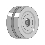 Metallic Wheel Straight for Bearing