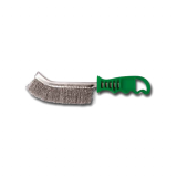 INOX WIre Brush with Green Plastic Handle