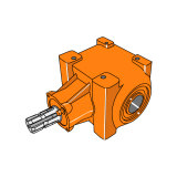 Rotary Cultivator Gearbox RTSD Hexagon 39mm