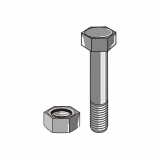 Bolts for Flex 32x10 / 32x12 Clamps Zinc Plated with Nut