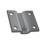 Mounting Plate Curved for Tube 100x100