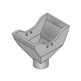 Funnel for Row Crop Seed Fertilizer Assembly