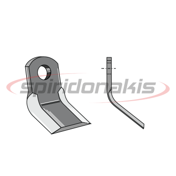 Flail Mower Blade AGRIMASTER 60x8 Curved Italy (07-022) www.spiridonakis.com