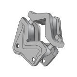 Complete Clamp for Mini Ripuntatore for Tube 100x100 BPT
