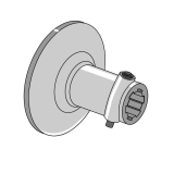 Female Coupler with Flange without Holes