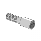 PTO Adapter Male - Female with Hole