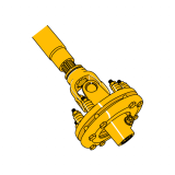 Splined PTO Shaft with Clutch without Protection Binacchi