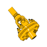 Triangular PTO Shaft with Clutch  Binacchi